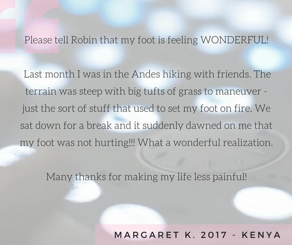 Testimonial 18 - Margaret K